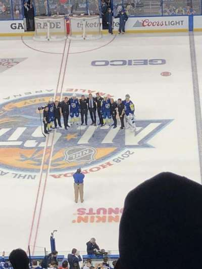 Amalie Arena, section: 330, row: M, seat: 17