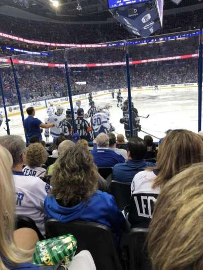 Amalie Arena, section: 123, row: G, seat: 4