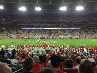 University of Phoenix Stadium, section: 108, row: 21, seat: 17