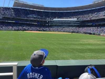 Kauffman Stadium, section: 103, row: B, seat: 1