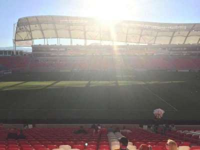 Rio Tinto Stadium, section: 2, row: W, seat: 8