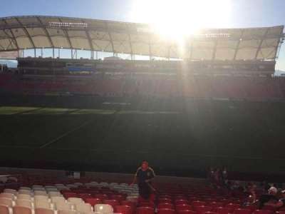 Rio Tinto Stadium, section: 37, row: T, seat: 12