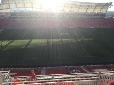 Rio Tinto Stadium, section: 202, row: H, seat: 20