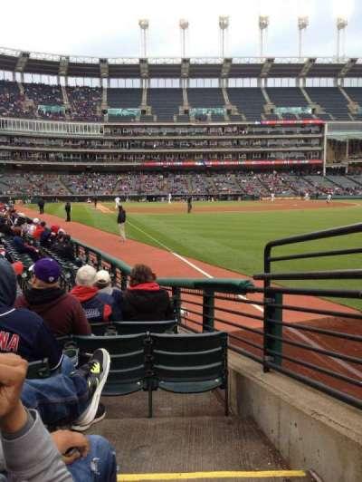 Progressive Field, section: 117, row: L, seat: 1