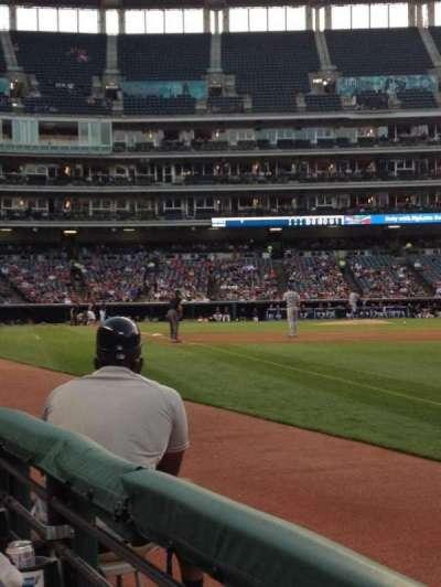 Progressive Field, section: 129, row: A, seat: 3