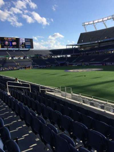 Camping World Stadium, section: 105, row: J, seat: 8