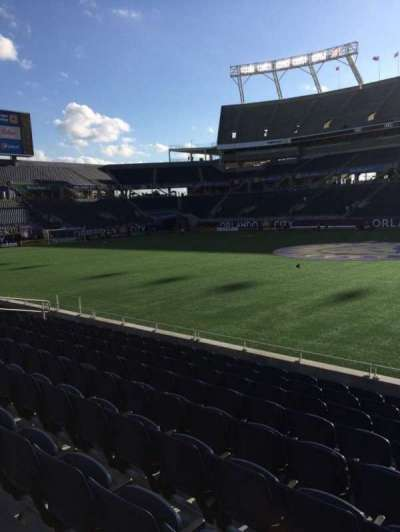 Camping World Stadium, section: 107, row: J, seat: 3