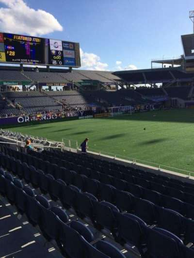 Camping World Stadium, section: 109, row: J, seat: 3