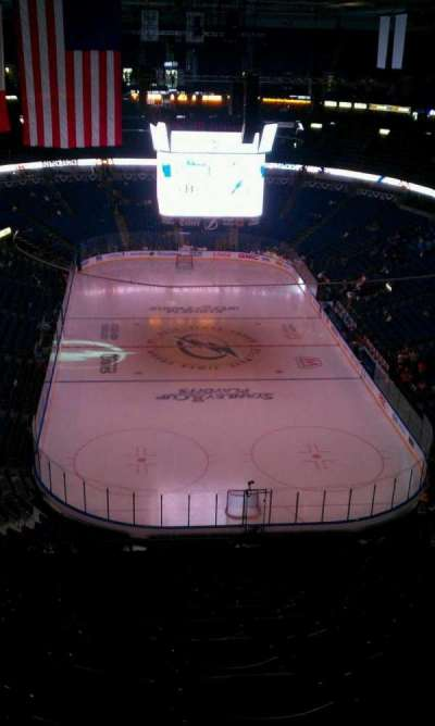 Amalie Arena, section: 309, row: R, seat: 10