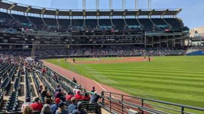 Progressive Field, section: 117, row: R, seat: 1