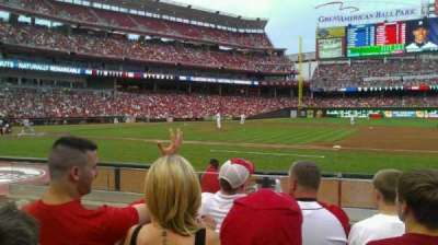 Great American Ball Park, section: 131, row: I, seat: 14