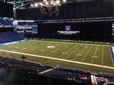 Lucas Oil Stadium, section: 337, row: 1, seat: 2