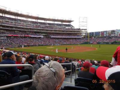 Nationals Park, section: 133, row: X, seat: 18