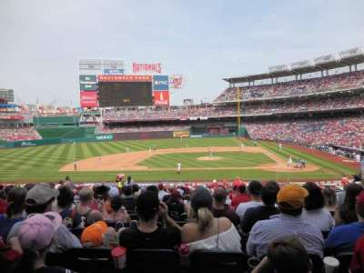 Nationals Park, section: 117, row: NN, seat: 5