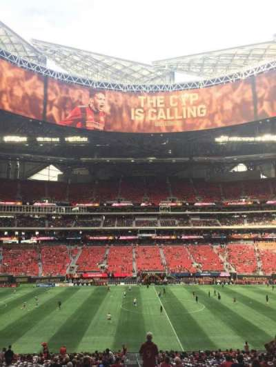 Mercedes-Benz Stadium, section: C111, row: 35, seat: 1