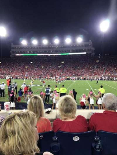 Vaught-Hemingway Stadium, section: L, row: 1, seat: 26 and 27