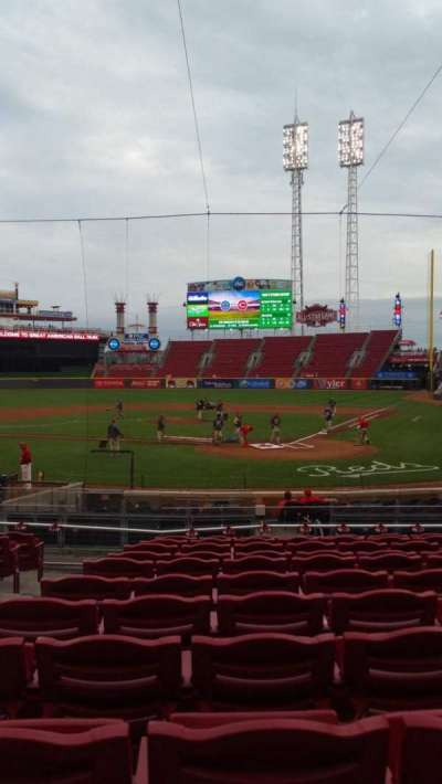 Great American Ball Park, section: 121, row: J, seat: 3