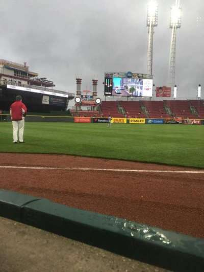 Great American Ball Park, section: 111, row: A, seat: 1