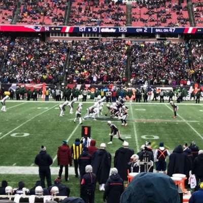 Gillette Stadium, section: 110, row: 11, seat: 1