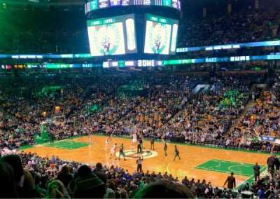 TD Garden, section: Club 107, row: D, seat: 1