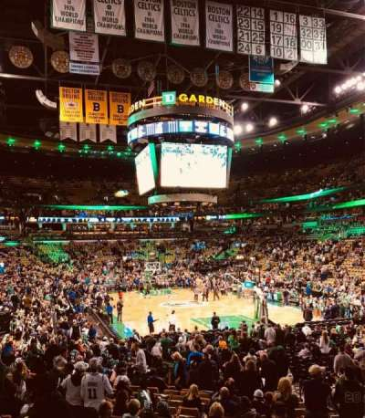 TD Garden, section: Loge 8, row: 17, seat: 8