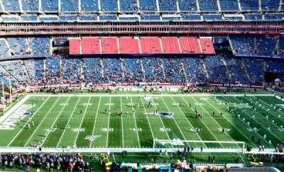 Gillette Stadium, section: 333, row: 4, seat: 1