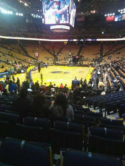 Oracle Arena, section: 121, row: 14, seat: 3