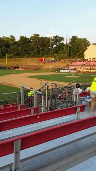 Yogi Berra Stadium, section: AA, row: 7, seat: 17