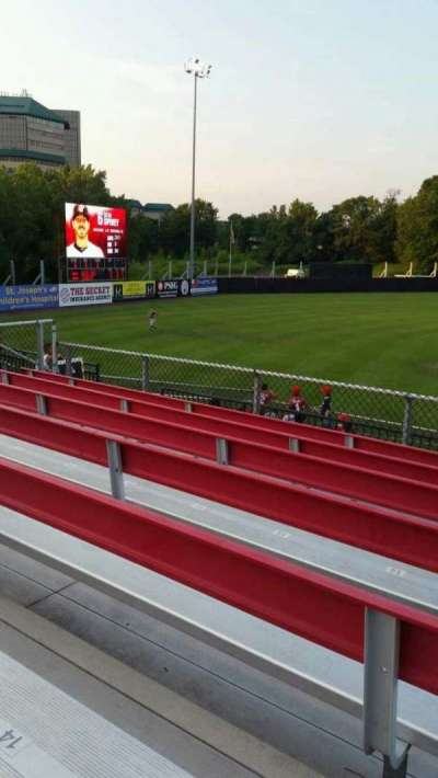 Yogi Berra Stadium, section: AA, row: 7, seat: 16