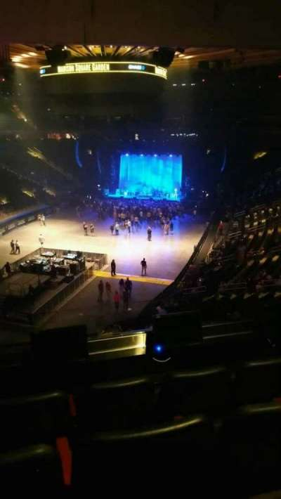 Madison Square Garden, section: 206, row: 4, seat: 1