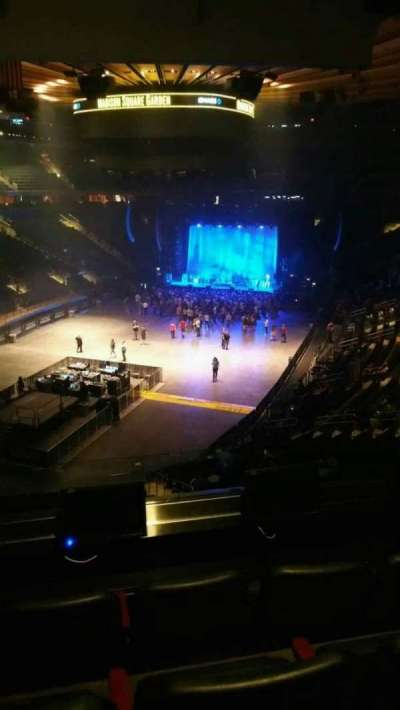 Madison Square Garden, section: 206, row: 4, seat: 3