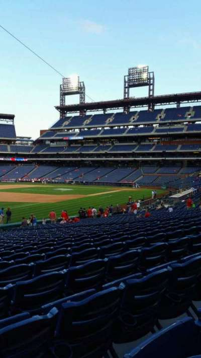 Citizens Bank Park, section: 136, row: 27, seat: 18