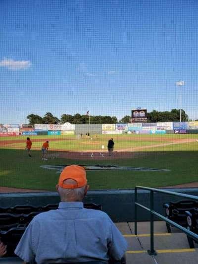 Arthur W. Perdue Stadium, section: 101, row: F, seat: 1