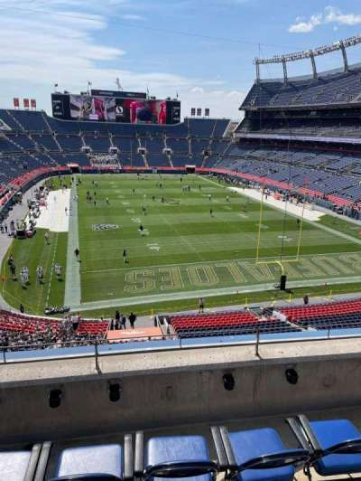 Empower Field at Mile High Stadium, section: 325, row: 4, seat: 20