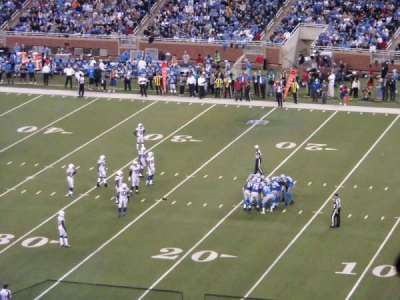 Ford Field, section: 335, row: 6, seat: 4