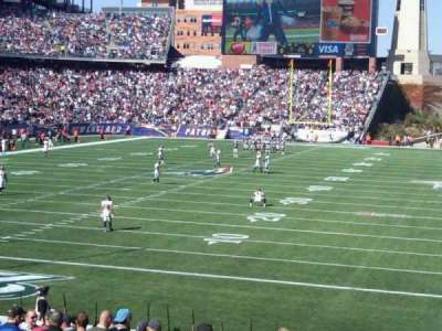 Gillette Stadium, section: 218, row: 22, seat: 1