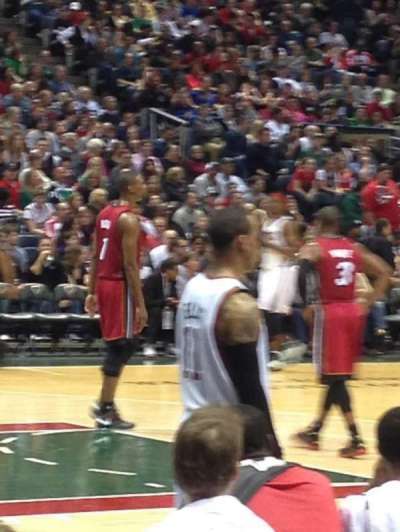 BMO Harris Bradley Center, section: 102, row: B, seat: 13