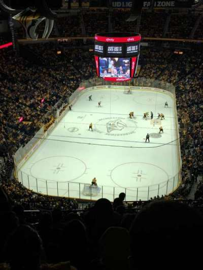 Bridgestone Arena, section: 302, row: Q, seat: 19
