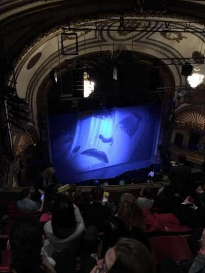 Palace Theatre (Broadway), section: BALC L, row: G, seat: 19