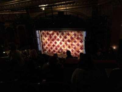 Brooks Atkinson Theatre, section: MEZZ, row: K, seat: 14
