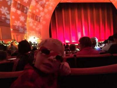 Radio City Music Hall, section: Orchestra 6, row: D, seat: 606