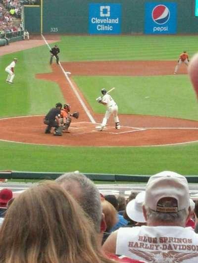 Progressive Field, section: 150, row: AA, seat: 5-9