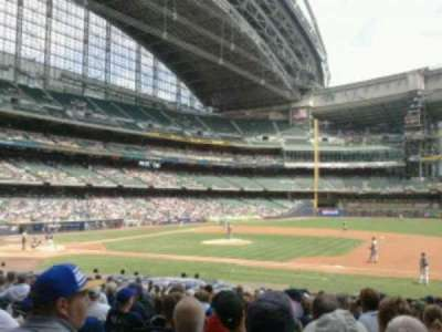 Miller Park, section: 112, row:  21, seat:  9