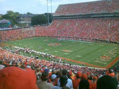 Memorial Stadium, Clemson, section: UT, row: V, seat: 1