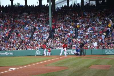 Fenway Park, section: Field Box 74, row: F, seat: 1