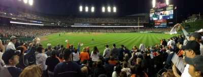 Comerica Park, section: 105, row: H, seat: 17