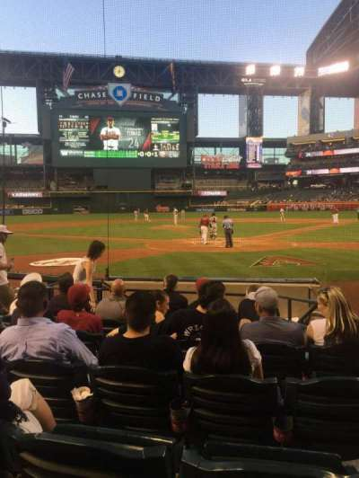 Chase Field, section: K, row: G, seat: 7