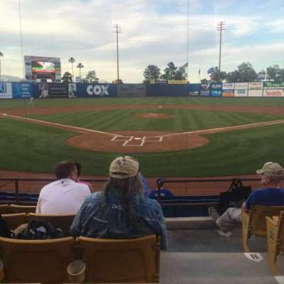 Cashman Field, section: 12, row: F, seat: 10
