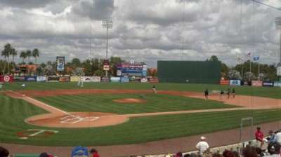 Hammond Stadium, section: 107, row: 15, seat: 1