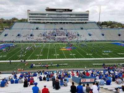 University of Kansas Memorial Stadium, section: 22, row: 42, seat: 5